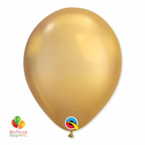 Chrome Gold Latex Balloon 11 inch delivery from Balloon Shop NYC