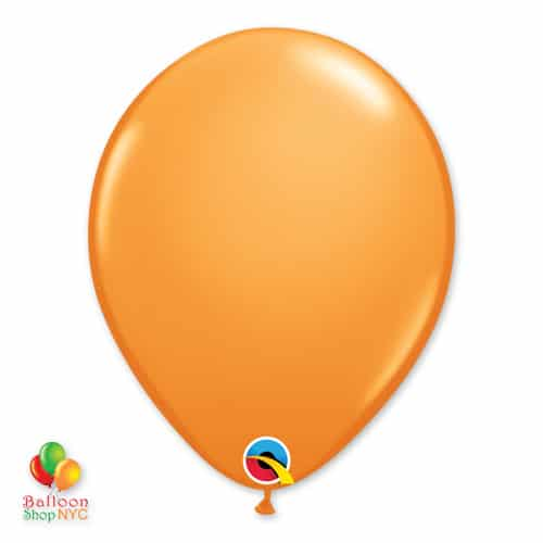 Orange Latex 11 inch Balloon delivery From Balloon Shop NYC